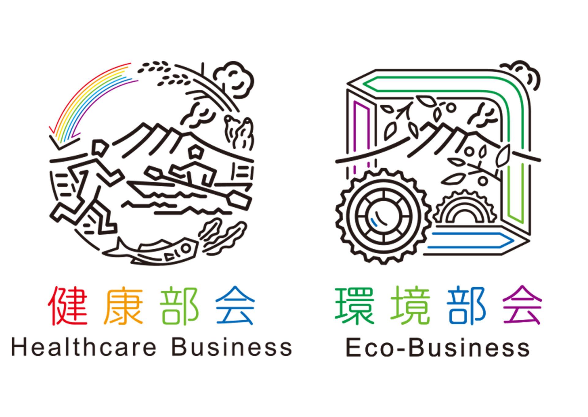 鹿児島市新産業創出研究会 各部会 ロゴ