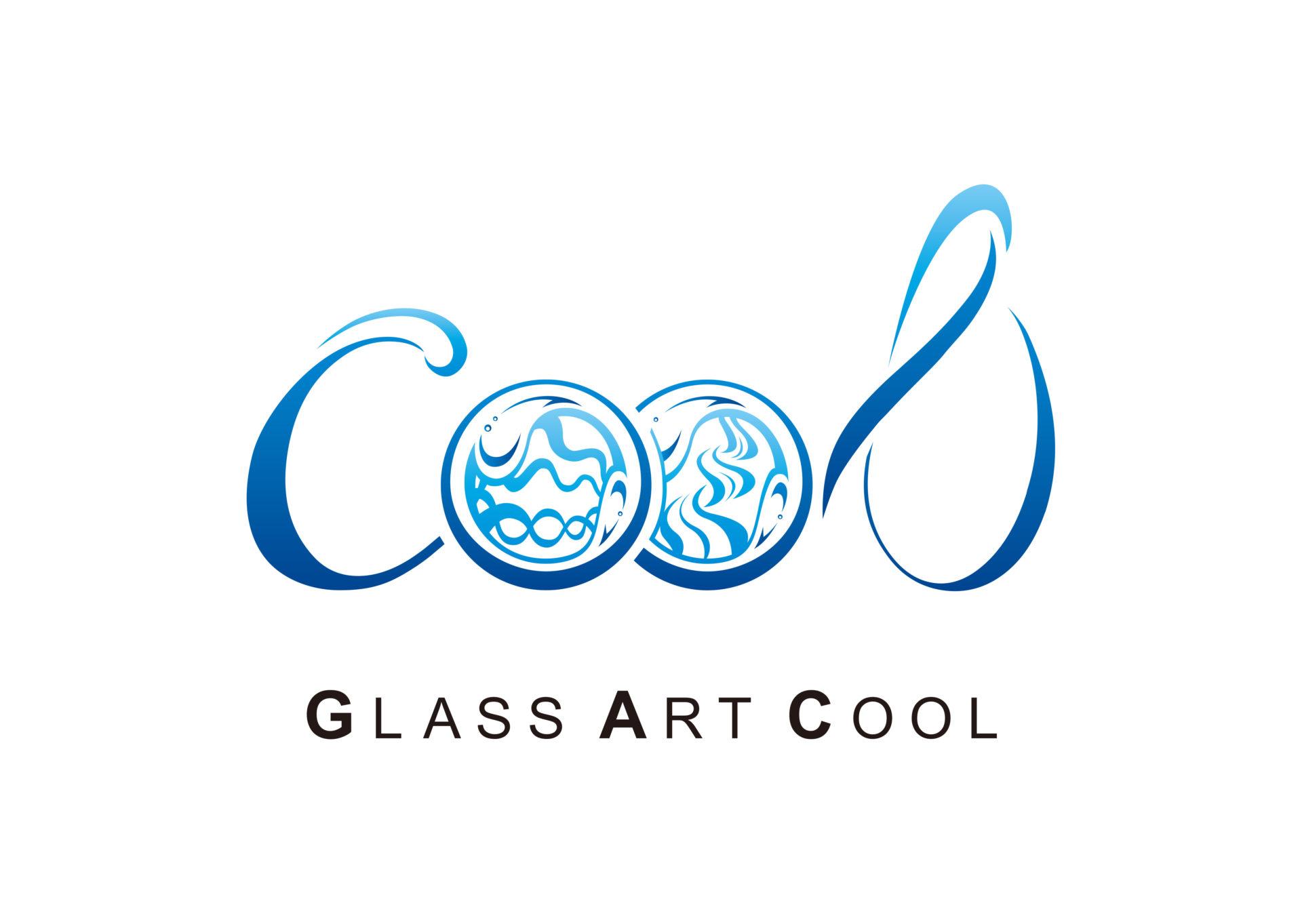 ガラスアート Cool ロゴ